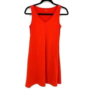 Eileen Fisher Burnt Orange Sleeveless Shift Dress